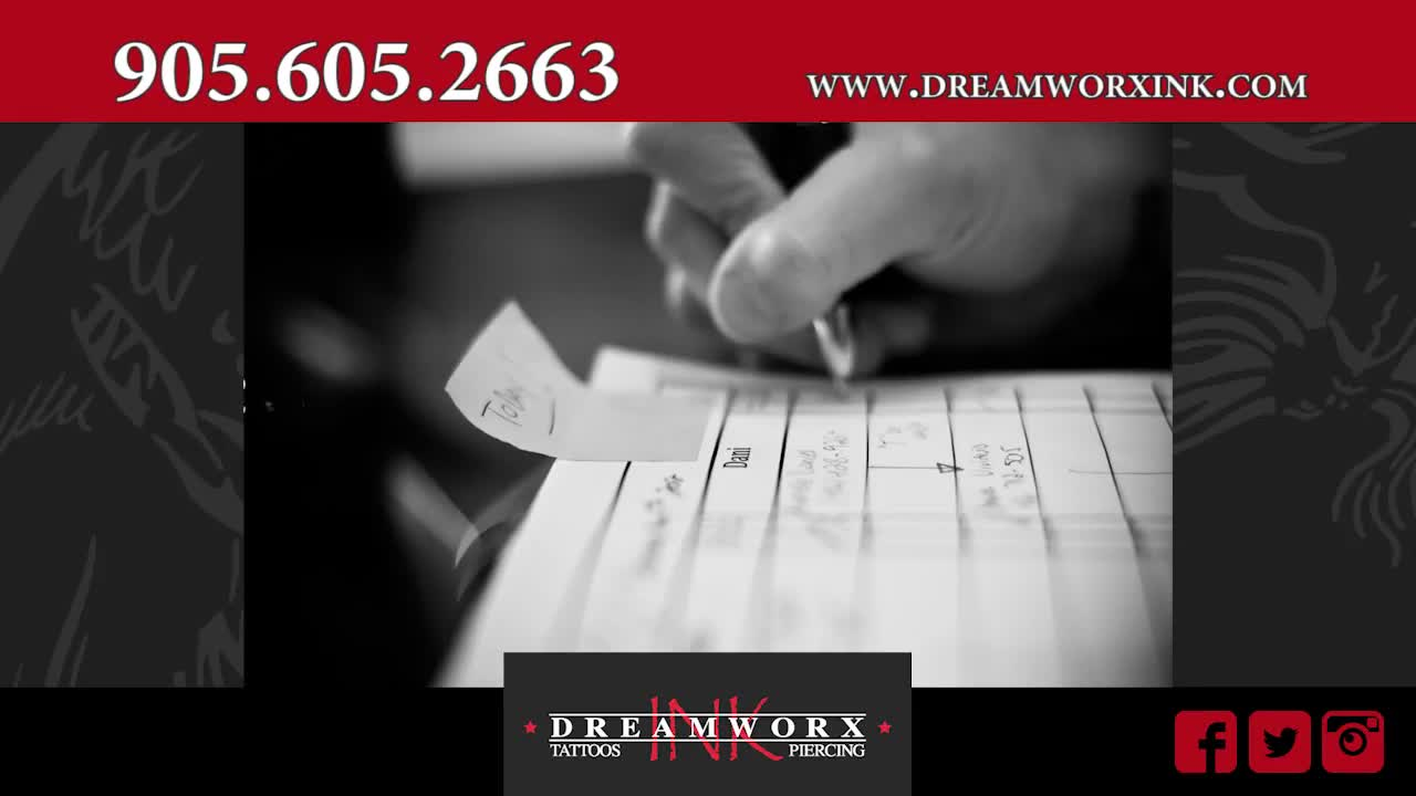 Dreamworx Ink - Tattooing Shops - 905-605-2663