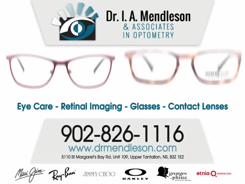 Dr I A Mendleson - Optometrists - 902-826-1116