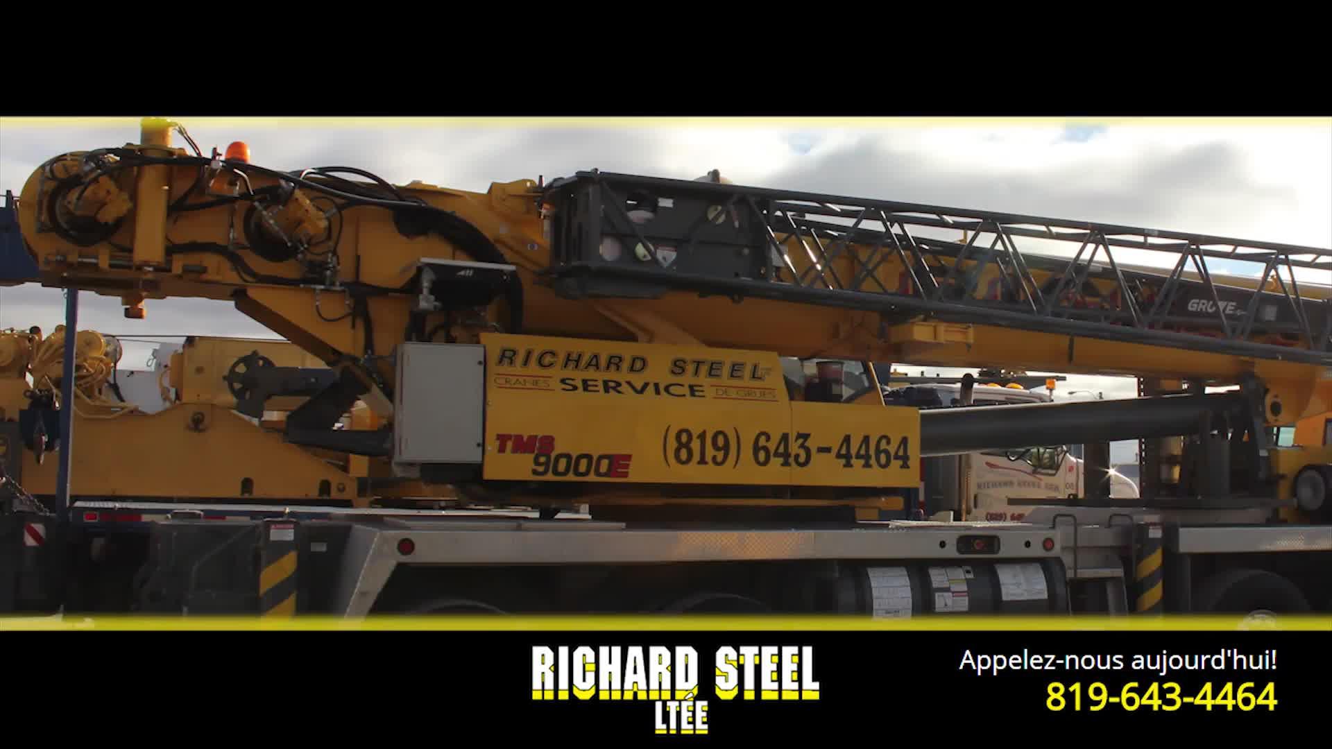 Richard Steel Ltée - Service et location de grues - 819-643-4464