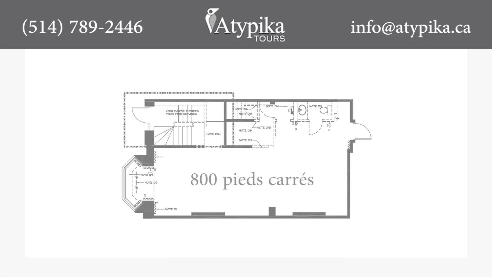Atypika - Agences de voyages - 514-789-2446