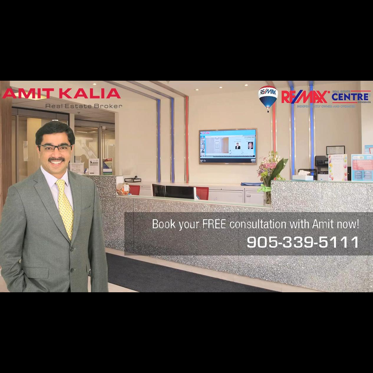 Amit Kalia Broker-RE/MAX Real Estate Centre Inc - Real Estate Brokers & Sales Representatives - 905-339-5111