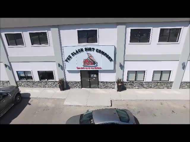 An aerial view of our office and product yards. Including Topsoil, Garden Mix, Decorative Rocks, Firewood, Boulders. We are also a licensed dealer for Expocrete and Barkman products.