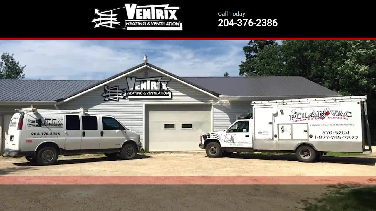 Ventrix Heating & Ventilation - Plumbers & Plumbing Contractors - 204-376-2386