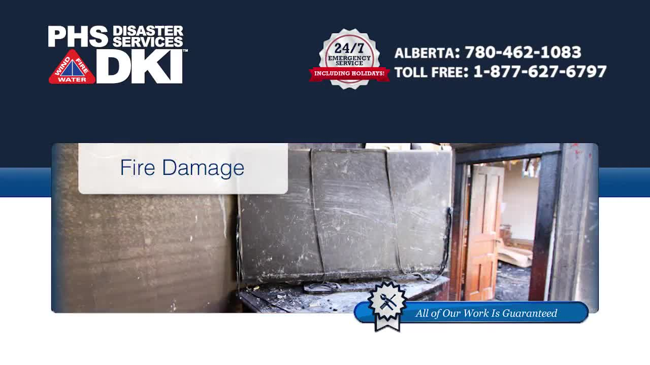 PHS Disaster Services - Fire & Smoke Damage Restoration - 780-462-1083