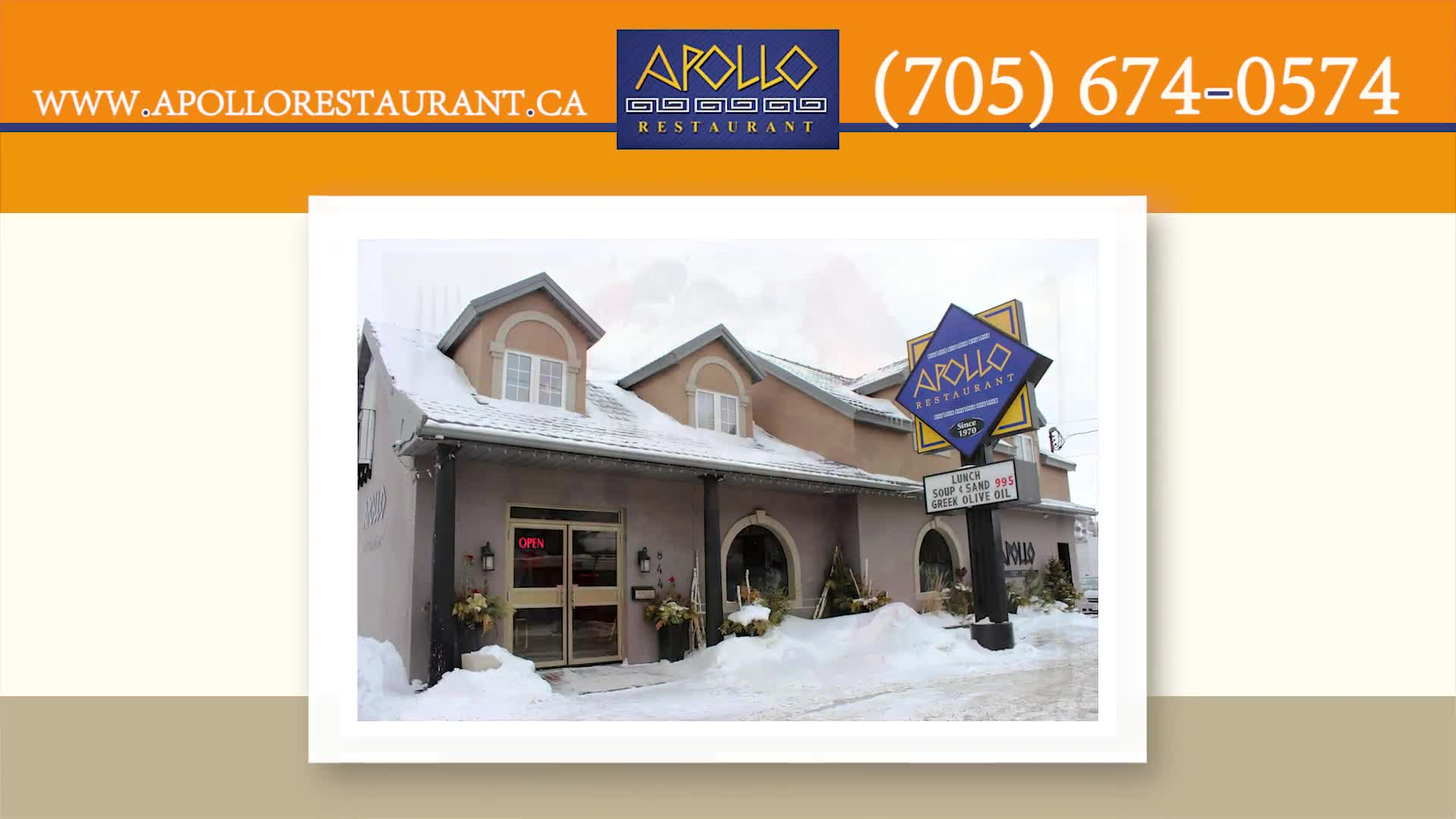 Apollo Restaurant & Tavern - Restaurants - 705-674-0574