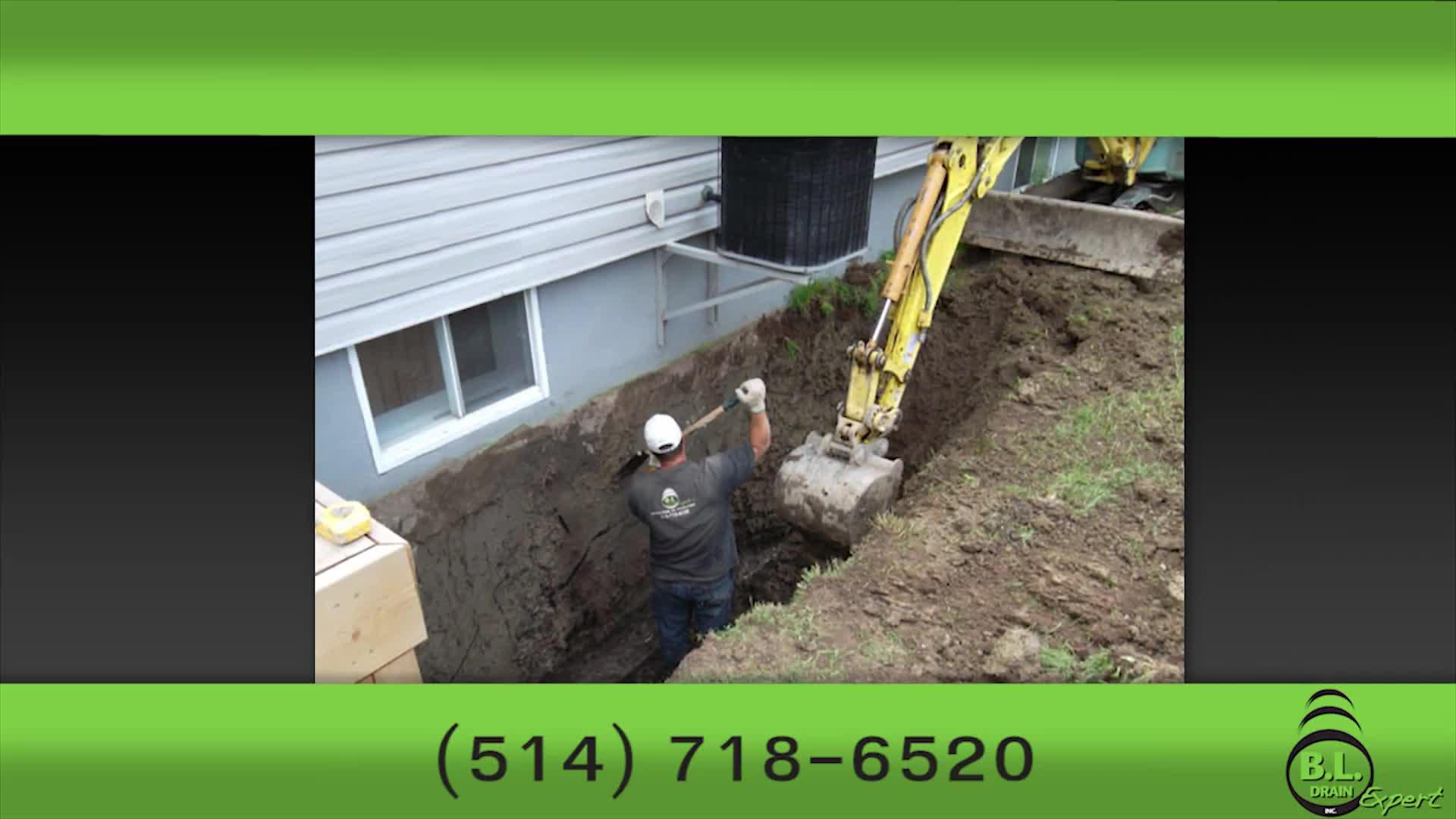 BL Drain Expert Inc - Entrepreneurs en drainage - 514-718-6520