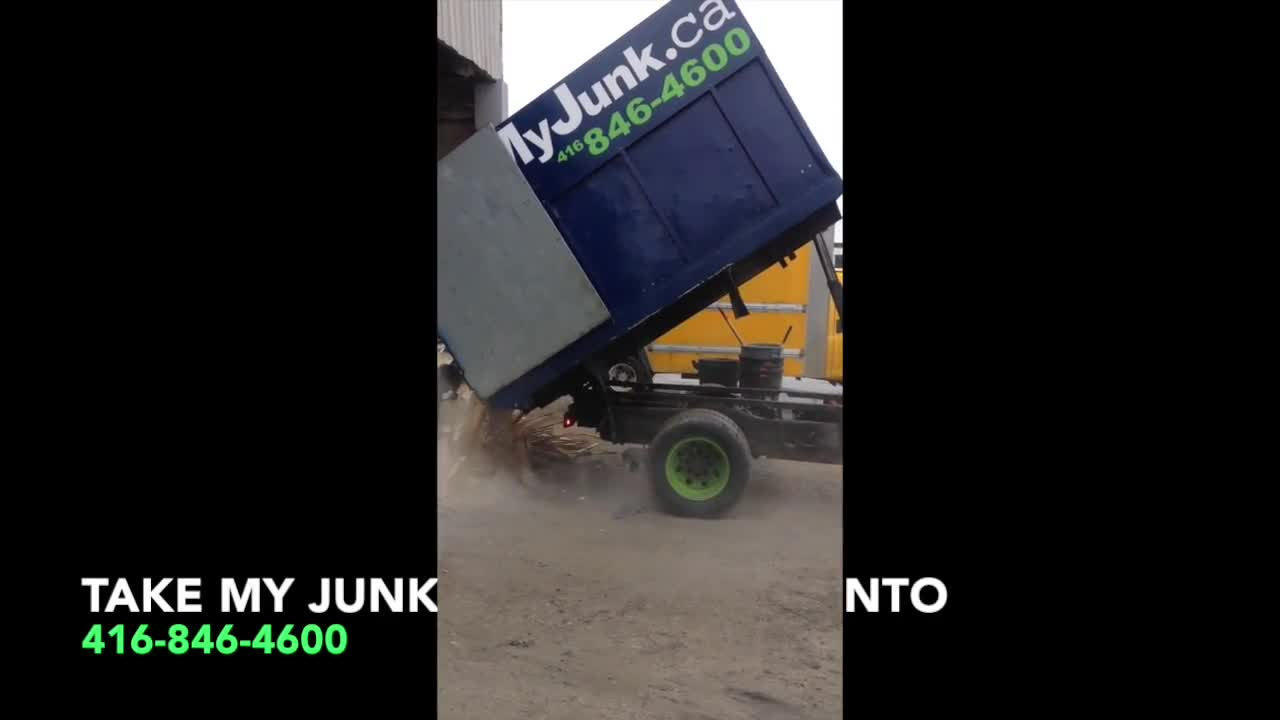 Take My Junk Removal Toronto Truck At Work