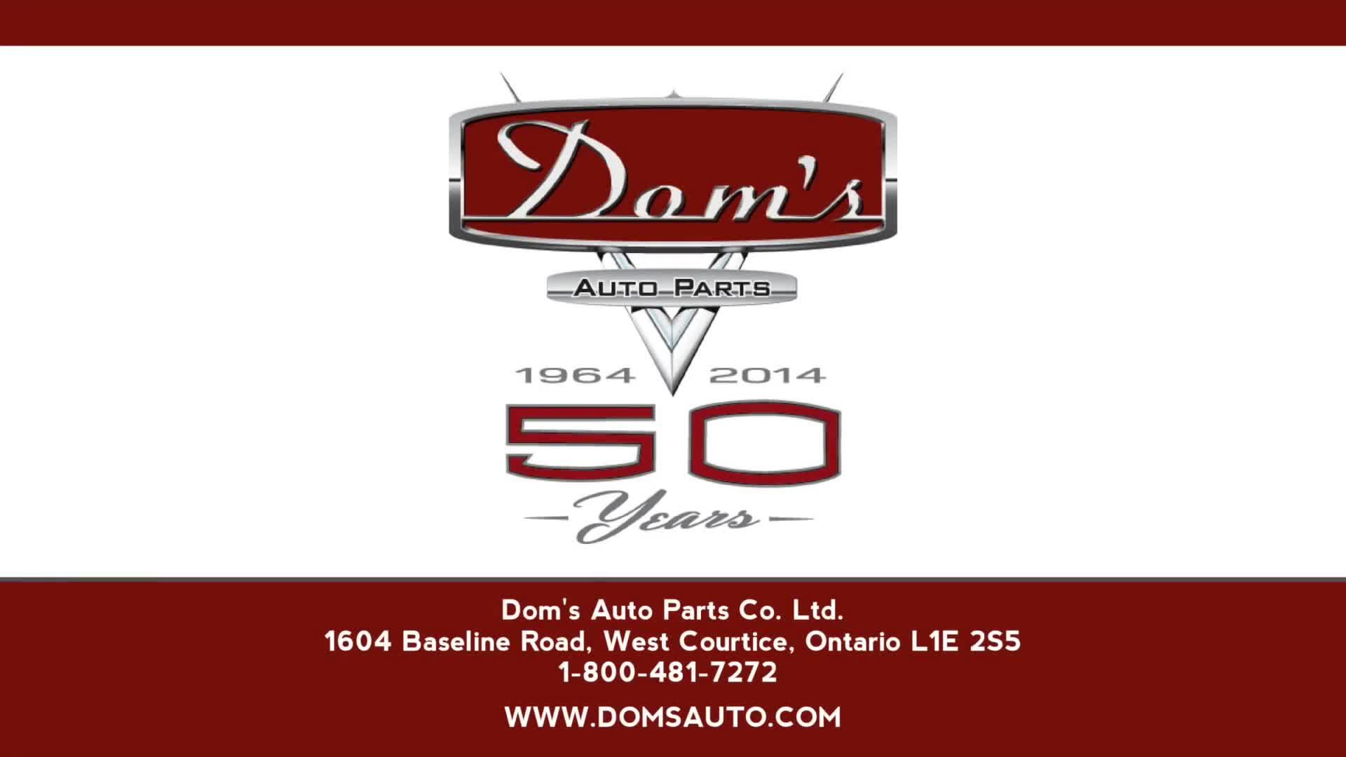 Dom's Auto Parts Co Ltd - Used Auto Parts & Supplies - 905-434-4566