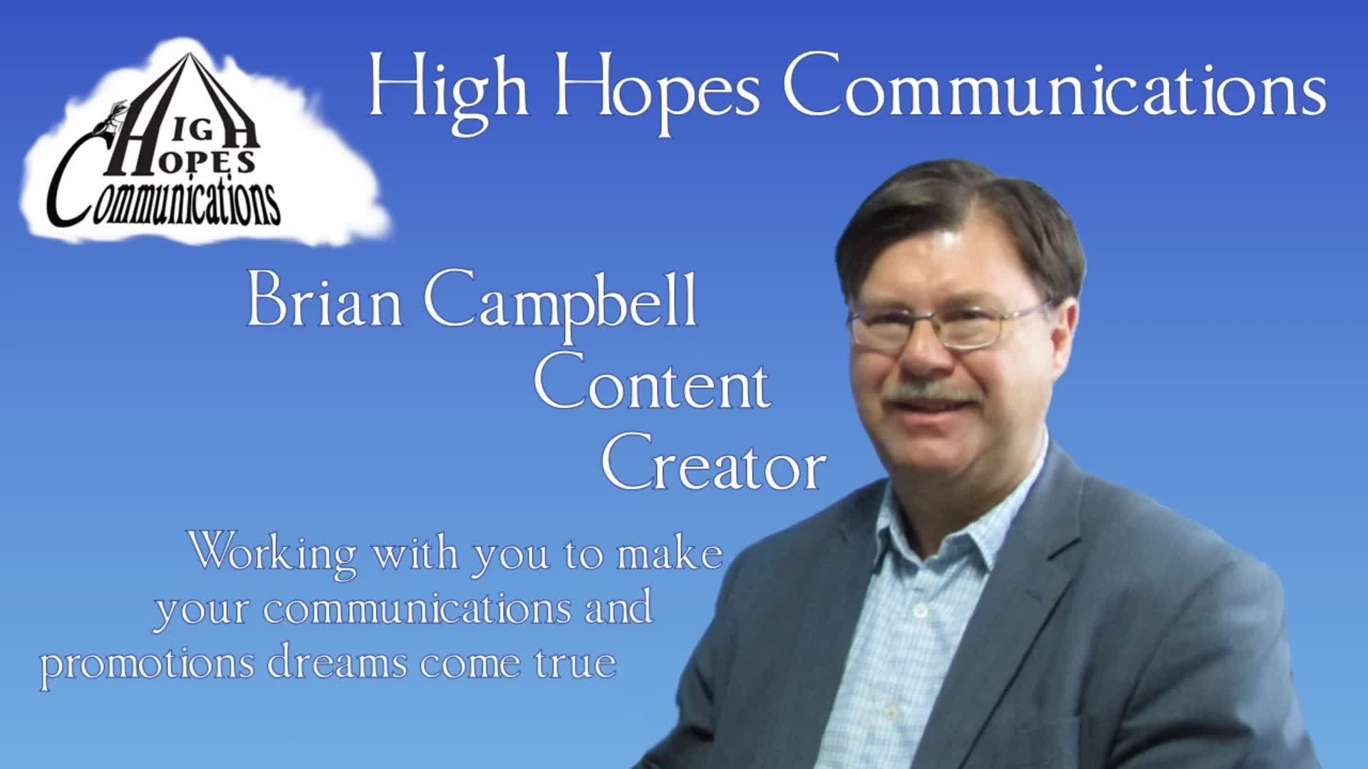High Hopes Communications - Marketing Consultants & Services - 204-880-5505