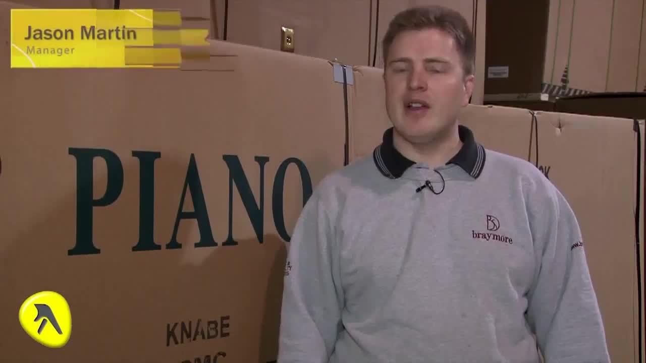 video Braymore Piano Movers Crane Service & Storage