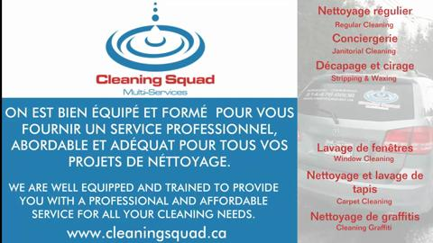 video Nettoyage Cleaning Squad